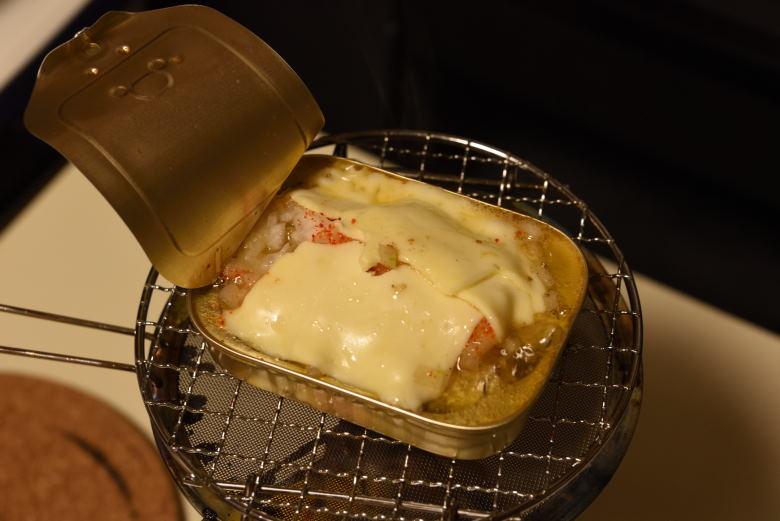 オイルサーディンのガーリックオニオンチーズ焼き